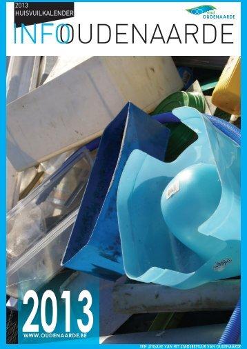 Afvalkalender 2013 - Stad Oudenaarde