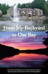From My Backyard to Our Bay - Montgomery County, Maryland