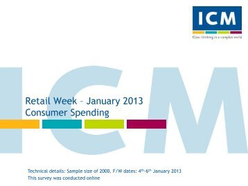 Retail Week Poll- Consumer spending - ICM Research