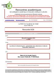 Les Arts et la Grande Guerre - DAAC - Académie de Créteil