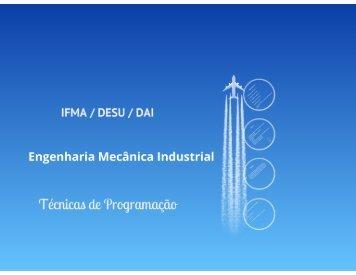 Apresentação da disciplina - DAI - IFMa