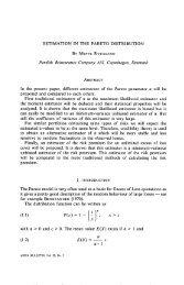 estimation in the pareto distribution - International Actuarial ...