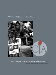 ANNUAL REPORT | 2009-2010 - Center for Justice and Accountability