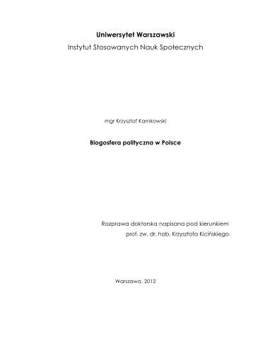Blogosfera polityczna w Polsce