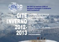 GITE INVERNO 2012- 2013 - UOEI Bergamo