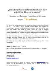 Programm und Anmeldeinfo zur Veranstaltung am 19 ... - Austria Solar