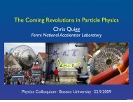 The Coming Revolutions in Particle Physics - Chris Quigg - Fermilab