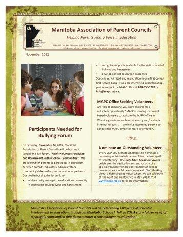 Mapc E-Bulletin Nov 2012 - Retsd.mb.ca