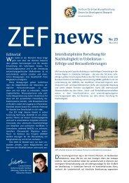 Interdisziplinäre Forschung für Nachhaltigkeit in Usbekistan ... - ZEF
