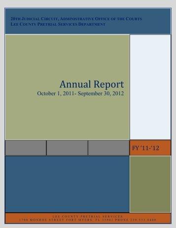 2011-2012 Annual Report - 20th Judicial Circuit Florida - Cjis20.org