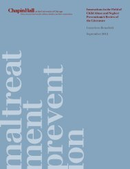 Innovations in the Field of Child Abuse and Neglect Prevention: A ...