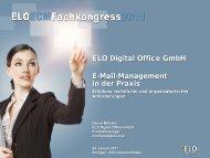E-Mail-Management in der Praxis ELO Digital Office GmbH
