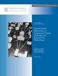 Toward Greater Effectiveness in Community Change: Challenges ...