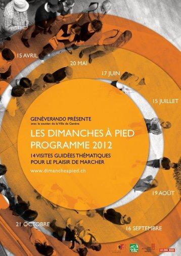 Télécharger le flyer de l'événement - Ville de Genève