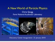 A New World of Particle Physics - Chris Quigg - Fermilab