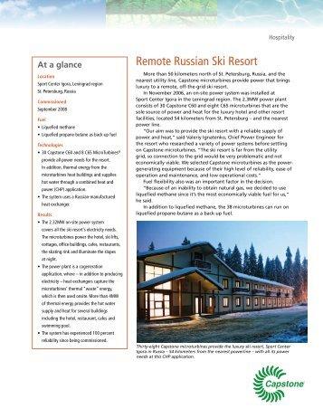 Remote Russian Ski Resort - Capstone Turbine
