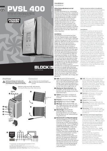 PVSL 400 - BLOCK Transformatoren-Elektronik GmbH