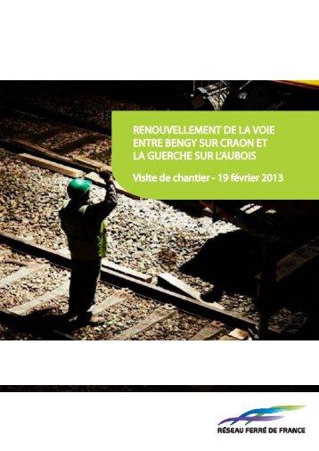 RENOUVELLEMENT DE LA VOIE ENTRE BENGY SUR ... - RFF