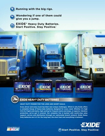 EXIDE HEAVY DUTY BATTERIES - CBS Parts Ltd.