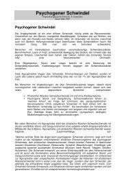 Psychogener Schwindel - Psychotherapeutische Praxis und ...