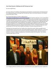 Reno-Tahoe Photonics: Exhibiting at the NCET Entrepreneur ... - OSA