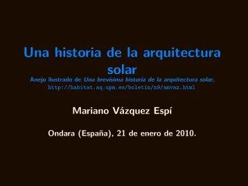 Una historia de la arquitectura solar - Universidad Politécnica de ...
