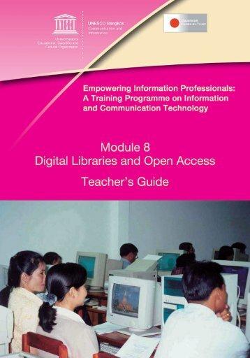 Digital Libraries and Open Access - UNESCO Bangkok