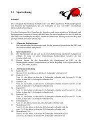 Sportordnung 25.10.2008 Änderungen in rot