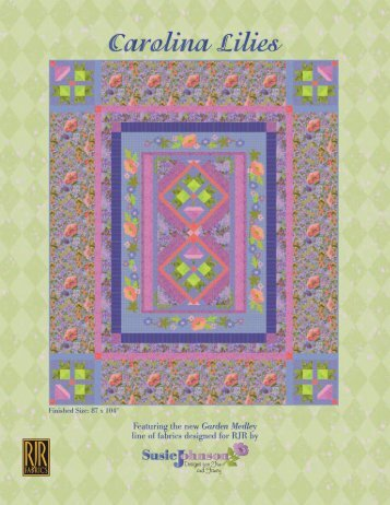 to download the 'Carolina Lilies' - Stitch-N-Frame