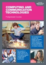 Postgraduate courses from the Department of Computing and ...