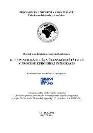 diplomatická služba členského štátu eú v procese európskej integrácie