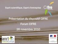 Présentation du dispositif CIFRE - Le LRA