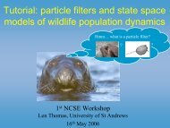 particle filters and state space models of wildlife - CREEM ...