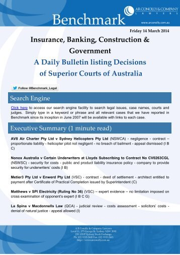 benchmark_14-03-2014_insurance_banking_construction_government