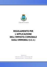 regolamento per l'applicazione dell'imposta comunale sugli immobili