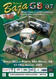 BUILTH WELLS, POWYS, MID WALES. GB 17-19TH AUGUST 2007 ...