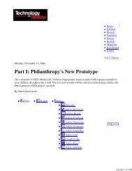 Part I: Philanthropy's New Prototype - The OLPC Wiki - One Laptop ...
