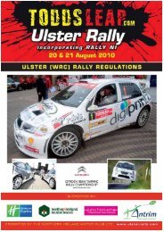 toddsleap.com ulster rally - Association of Northern Ireland Car Clubs