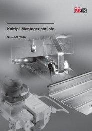 Kalzip® Montagerichtlinie