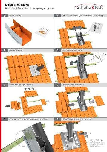 Montageanleitung Universal Bleicolor Durchgangspfanne PDF öffnen