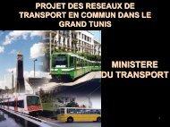 Projet des réseaux de transports en commun dans le ... - Euromedina