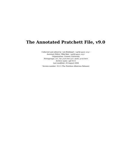 The Annotated Pratchett File V90 The L Space Web