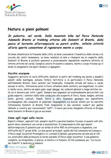 Vacanza sportiva in Trentino - Terme di Comano