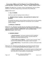 Community of Miltonvale Park Regular Council Meeting Minutes