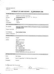 AFFIDAVIT OF GARY KONING - 24 DECEMBER 2006 - Love for Life