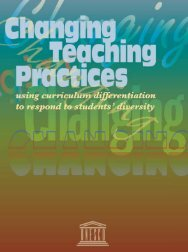 using curriculum differentiation to respond to students' diversity