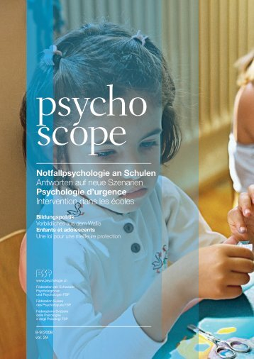 Notfallpsychologie an Schulen Antworten auf neue Szenarien ...