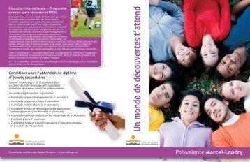 Polyvalente Marcel-Landry - Commission scolaire des Hautes ...