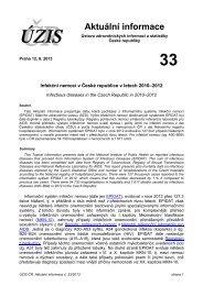 Aktuální informace č. 33/2013 - ÚZIS ČR
