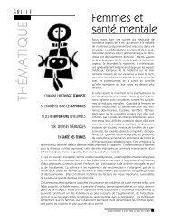Femmes et santé mentale - Réseau québécois d'action pour la ...